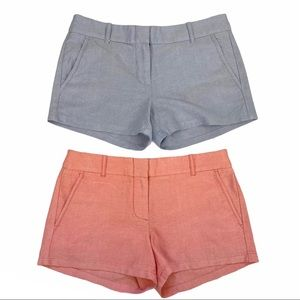 J. Crew Powdered Oxford City Shorts Bundle